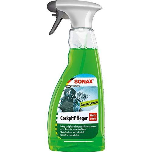 SONAX CockpitPfleger Matteffect Green Lemon (500 ml) reinigt und pflegt alle Kunststoffteile im Auto | Art-Nr. 03582410
