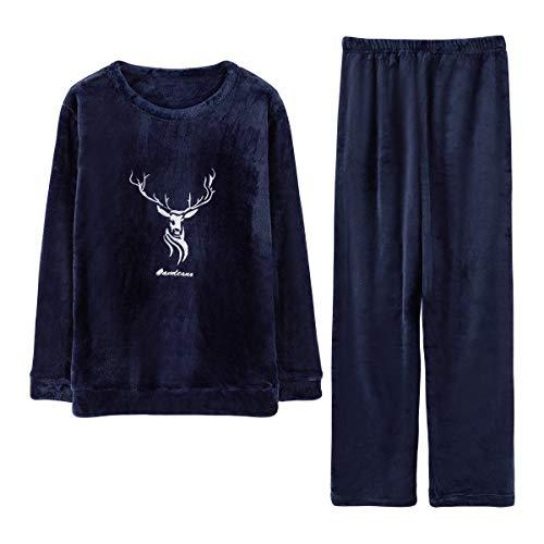 GOSO - Pijama de Forro Polar Grueso y cálido Invierno para