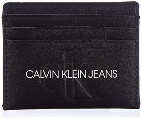 Calvin Klein Jeans Cardcase 6cc, Accessoire Portefeuille de Voyage Femme, Noir, Taille Unique