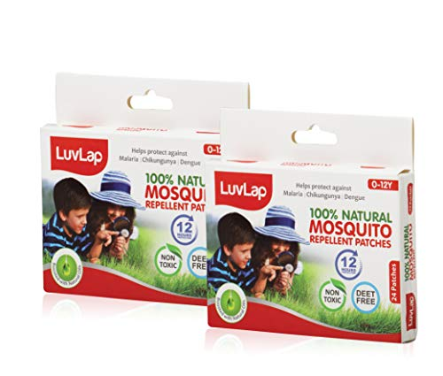 LuvLap Natural Mosquito Repellent Patch, 48 Pieces (24pcs x 2packs)