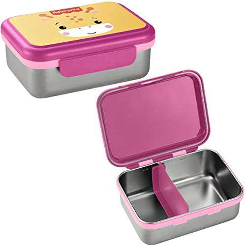 Bento Box Aço Inox Hot & Cold Fisher Price Rosa - BB1093
