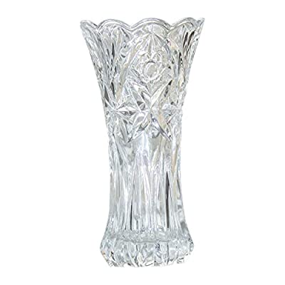 """Slymeay Flower Vase Glass Thickening Design for Home Decor,Wedding vase or Gift - 8"""" High x4 Wide,Clear,with Color Box"""