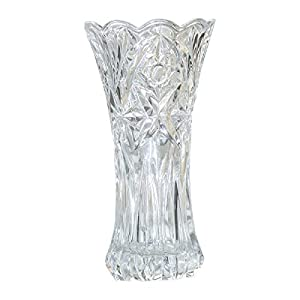 Slymeay Flower Vase Glass Thickened Design for Home Decor,Wedding vase or Gift – 8″ High x4 Wide,Clear,with Color Box