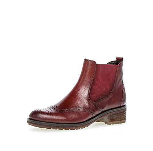 Gabor Damen Chelsea Boots, Frauen Stiefeletten, Stiefel halbstiefel Bootie Schlupfstiefel flach,Dark-Opera(Effekt),38.5 EU / 5.5 UK
