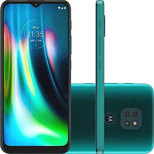 "Smartphone Motorola XT2083 Moto G9 Play 64GB Verde Turquesa Tela 6.5"" Câmera 48 MP 2 MP 2 MP"