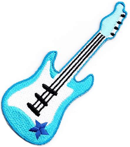 Parche bordado para coser o planchar con diseño de guitarra eléctrica, color...