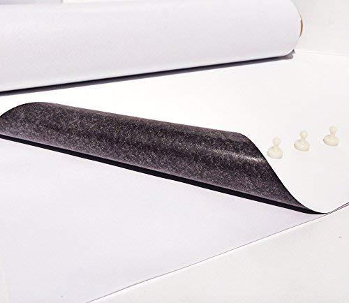 IJzeren folie - ferrofolie wit mat zelfklevend 500mm x 200mm x 0,6mm zelfklevend - primer voor magneten - magnetische folie