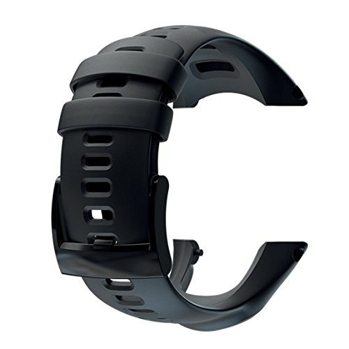 Suunto Ambit2 S Ambit3 Sports Silicone Strap Correa Reloj, Unisex, Negro, Talla Única