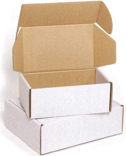 Ambassador - Scatola per spedizioni, misure 152 x 152 x 60 mm, confezione da 50 pezzi, colore: Bianco latte