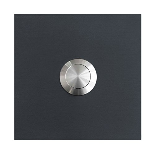 MOCAVI RING 110 Edelstahl-Qualitäts-Klingel anthrazit-grau matt RAL 7016 quadratisch, Klingeltaster, Klingelplatte, Design-Klingel