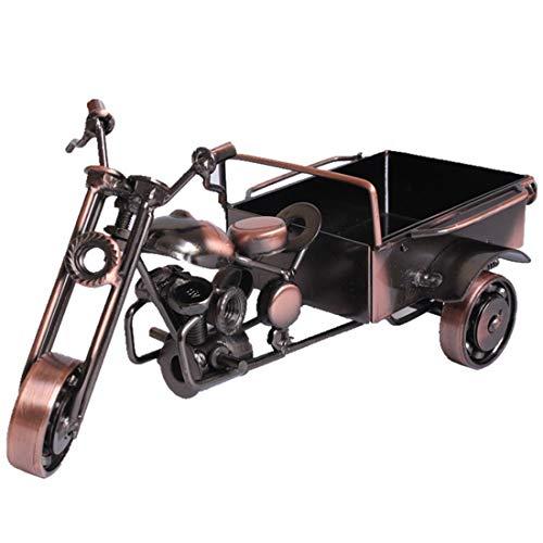 Allshiny Ornament. Kreative Dreirad-Modellsimulation verziert modernes Motorrad dreistöckige Einrichtungsgegenstände des Wohnzimmers minimalistische Dekorationen