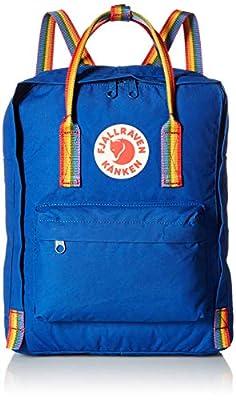 Fjällräven Kånken Rainbow Vinylon Backpack, Blue (Vinylon, Blue, Urban Style, Solid Colour, Unisex, Front Pocket)