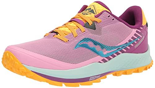 Saucony Women's Peregrine 11 Trail Running Shoe, Future Pink, 7.5