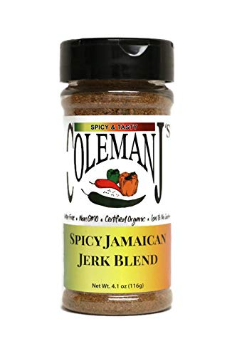 Spicy Jamaican Jerk Seasoning - Certified Organic, Keto, Non-GMO, Gluten-Free, Vegan, Low Salt, No MSG