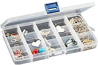 Niome Adjustable 15 Compartment Plastic Storage Box Jewelry Earring Tool Container