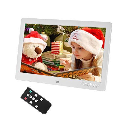 Andoer IPS Cornice Digitale 10.1 pollici Calendario Orologio Sveglia Digitale con 2.4G Telecomando Ultrasensibile, 1024*600 Risoluzione TFT-LED scherm