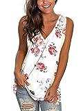 Long Tank Tops for Women Cami Shirt Plus Size Clothing Ladies Sleeveless Shirts XXL