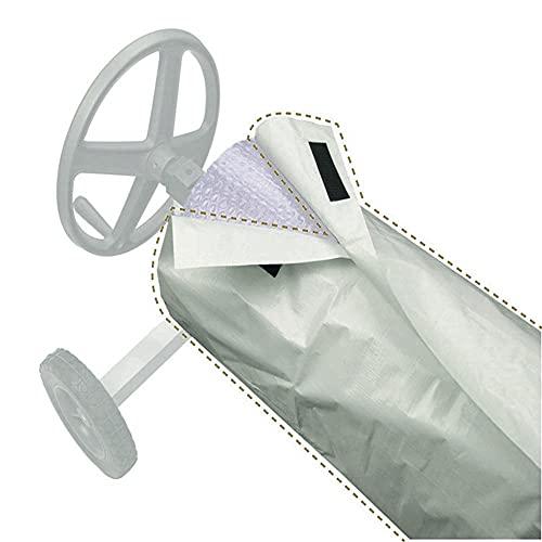 Destinely Enrollador para piscinas de suelo de plástico para piscinas con protección impermeable