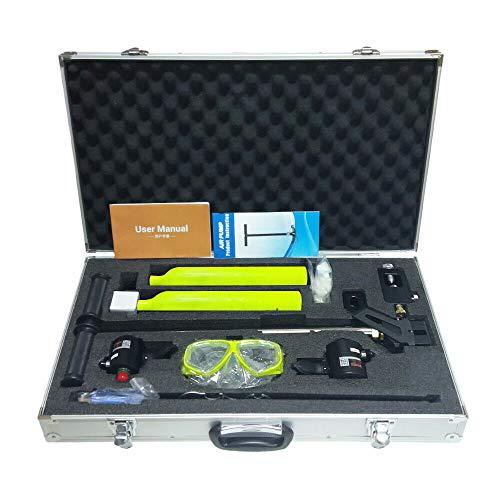 OUKANING 2 piezas 0,5 L equipo de buceo, mini botellas de oxígeno, tanque de aire, dispositivo de respiración subacuática, kit bomba + gafas + transferencia