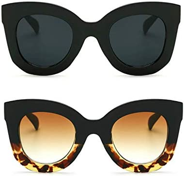 Butterfly Sunglasses Semi Cat Eye Glasses Plastic Frame Clear Gradient Lenses Black Black Tortoise product image