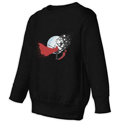Anime & Crescent Moon Teen Boy Girl Anime Crew Neck Pullover Sweatshirt
