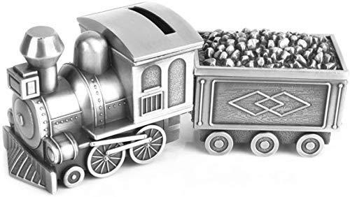 Bancos de Dinero QWEA para niños, Caja de Dinero con Tren de carbón, Tanque de Almacenamiento con joyero, Hucha con Personalidad Creativa