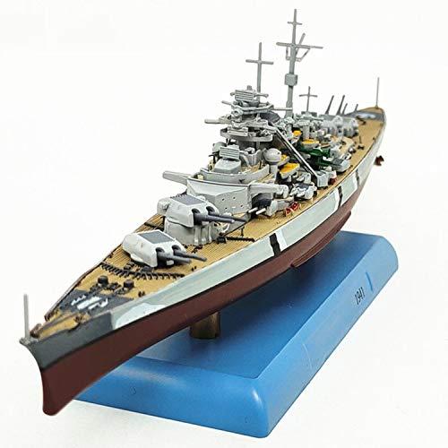 Educational Toys Model 1/1000 War Ship HMS Bismarck, Germany Battleship World Plastic Warship Assembled Model Building Kit with Motor DIY Kids Military