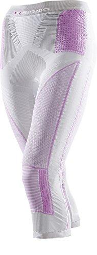 X-Bionic Collant imperméable pour Adulte Lady Evo UW Pants Medium XS Multicolore - Silver/Fuchsia
