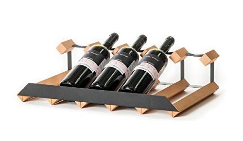 RAXI™ SHOW Premium Weinregal aus Buchenholz mit luxuriösem Design für 5X Wein Flaschen