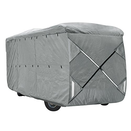 XGear Outdoors Class A RV Cover, Fits 40' - 42' Class A Motorhome, with 3-Ply Roof for Max Weather Protection, Grey