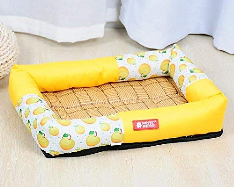 FERZA petsuppliesmisc Summer Sleeping Mat Pet Bed Blanket Oxford Waterproof Dog Bed Pet Dog Cat (Yellow,L)