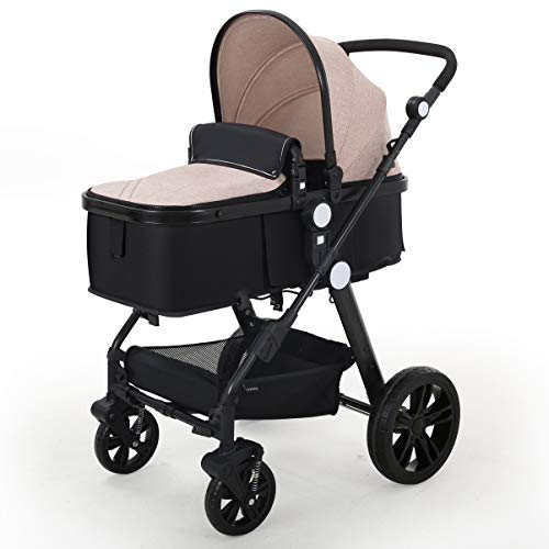 Best Bargain Baby Stroller Newborn Carriage Infant Reversible Bassinet to Luxury Toddler Vista Seat ...