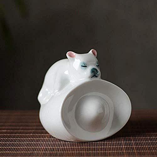 LHQ-HQ Decoraciones Arte Artesanía Escultura interior coche cerámica lindo perro coche interior