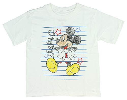 Disney Camiseta Mickey Mouse boceto Color Niño Cartoon Character tee 3t