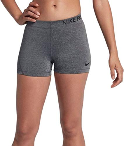 Nike Womens 3' Pro Compression Short (Grey/Black, Medium)