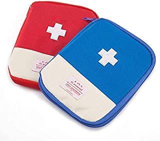 UpOne 2 Pack Trval Portable Mini Travel Medicine Bag, First Aid Kit, Small Medical Storage Pocket, Pill Package Bag for Ou...