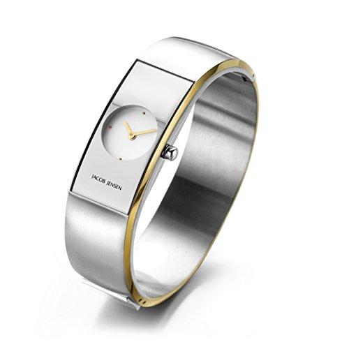 Jacob Jensen dames analoog kwarts horloge met roestvrij stalen armband 481