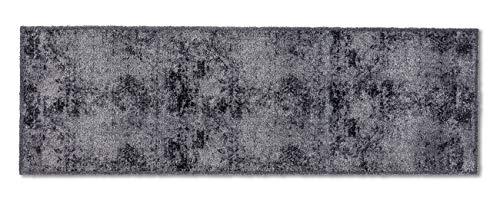 ASTRA flauschig-weiche Sauberlaufmatte Pure & Soft – Schmutzfangmatte bunt – Türmatte Innen – strapazierfähige Fussmatte – 50x150cm (Farbe: Fliesen Allover grau)