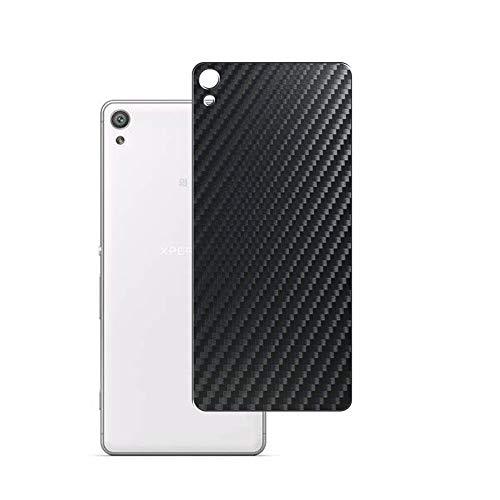 Vaxson 2 Unidades Protector de pantalla Posterior, compatible con Sony Xperia XA Dual F3115 F3116, Película Protectora Espalda Skin Cover - Fibra de Carbono Negro