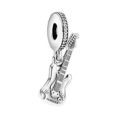 Pandora Elektrische Gitarre Charm-Anhänger, Silber, 2cm, 798788C01