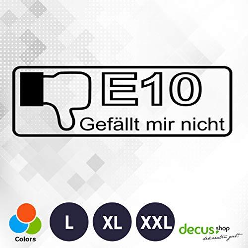 Decus E10 GEFäLLT Mir nicht 1716 // sticker OEM JDM Style sticker XL (ca. 29x9 cm) zwart