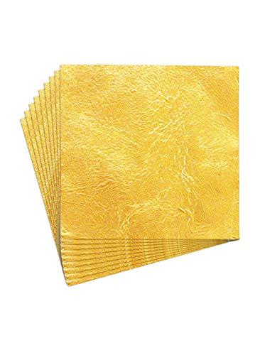 New Noam 100 Blätter Imitation Blattgold 14 x 14 cm, für Vergoldung Handwerk, Dekoration für Kunst (1)