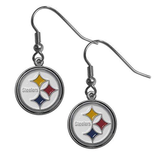 NFL Siskiyou Sports Womens Pittsburgh Steelers Dangle Earrings One Size Team Color