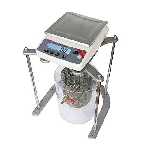 CGOLDENWALL Elektronische Wasserwaage, 1–10 kg, 0,1 g, 0,01 g, zum Testen von massiver Dichte, Volumen, Digitalanzeige, 6 Einheiten Umwandlung, 10kg,0.1g, 1