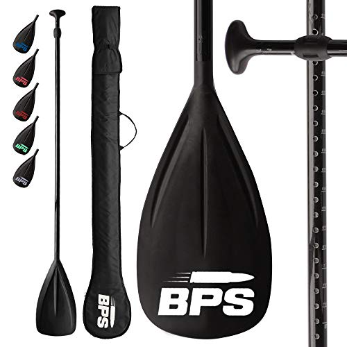 BPS Adjustable 2-Piece SUP/Stand Up Paddleboard Paddle - Carbon Fiber...