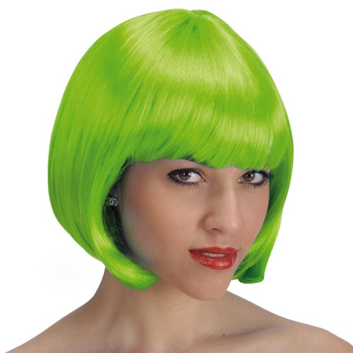 Perruque carre Pin Up 60's 70's 80's - Frange - Synthetique - Vert - 25