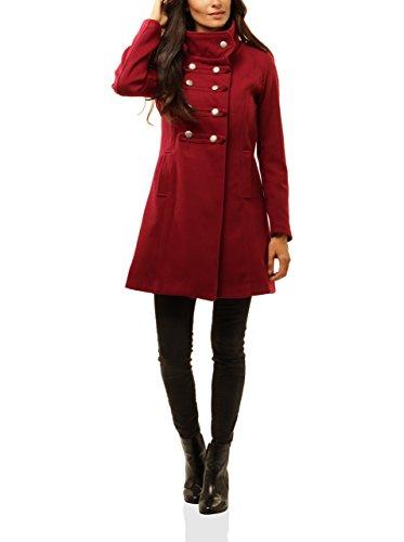 MAISON DU MANTEAU mantel Elena 7543 donkerrood XL