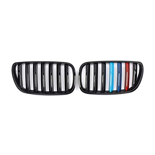 MYlnb Für BMW E83 X3 2007-2010, glänzend glänzend schwarz M-Farbe Front Nierengitter