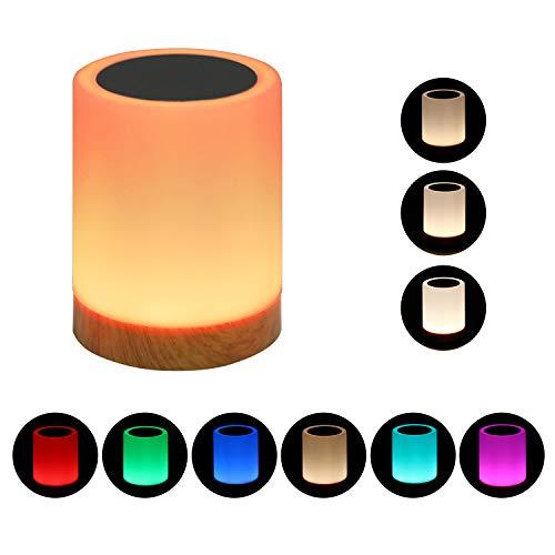 Lampe de chevet Touch- Réglable de nuit,De plein air Table Lampe avec Controle Tactile,Meilleur cadeau de Noël (1PACK)