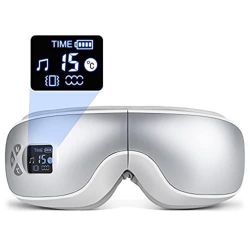 アイウォーマー 目元エステ グラフェン加熱 エア調節 音量調節 多周波振動 音楽機能 タイマー設定 5モード 180度二つ折り 日本語音声放送